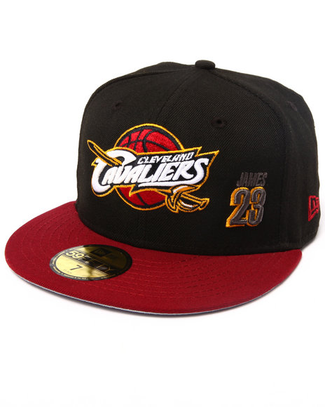 New Era - Men Black Cleveland Cavaliers Lebron #23 Team 5950 Fitted Hat (Drjays.Com Exclusive)