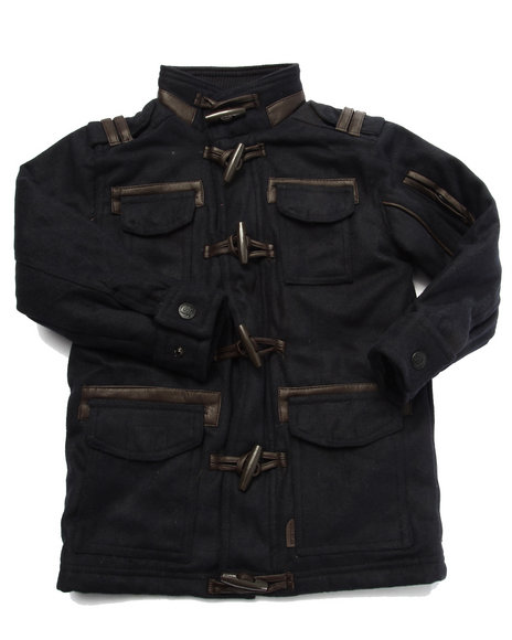 Arcade Styles - Boys Navy Supremacy Wool Toggle Coat (4-7) - $19.99