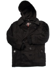 Heavy Coats - Wool Peacoat w/ Hood (4-7)