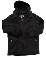 Heavy Coats - Wool Peacoat w/ Hood (8-20)