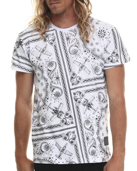 Ur-ID 213426 Allston Outfitter - Men White All Over Paisley T-Shirt
