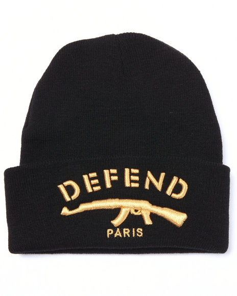 Defend Paris Men Defend Paris Signature Beanie Black