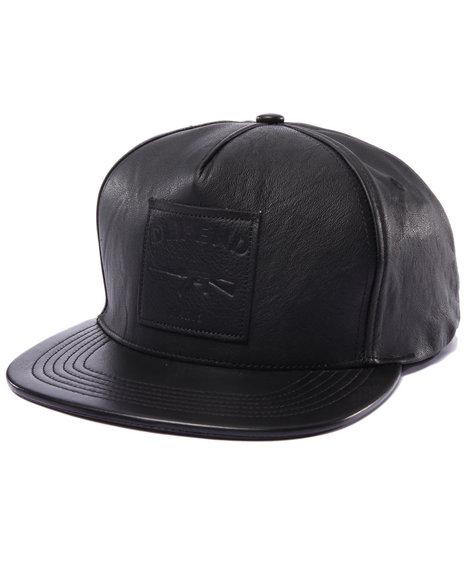 Defend Paris Men Defend Paris Leather Hat Black