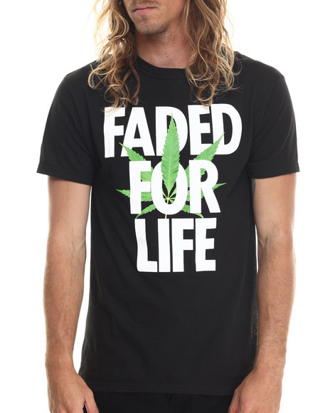 Alife - Men Black Faded For Life S/S Tee