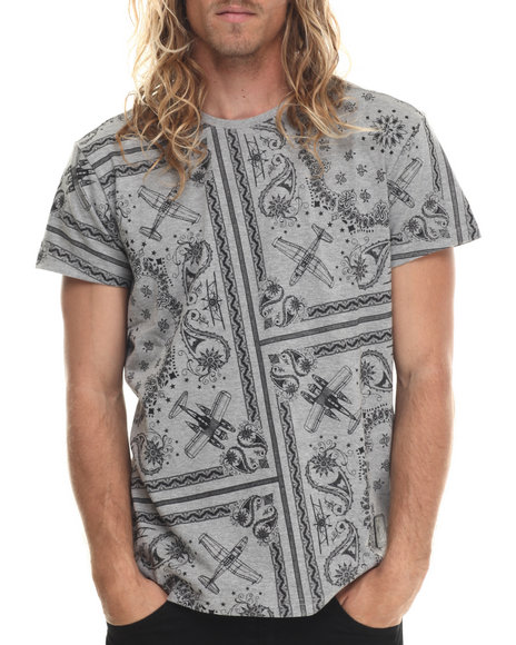 Allston Outfitter - Men Grey All Over Paisley T-Shirt