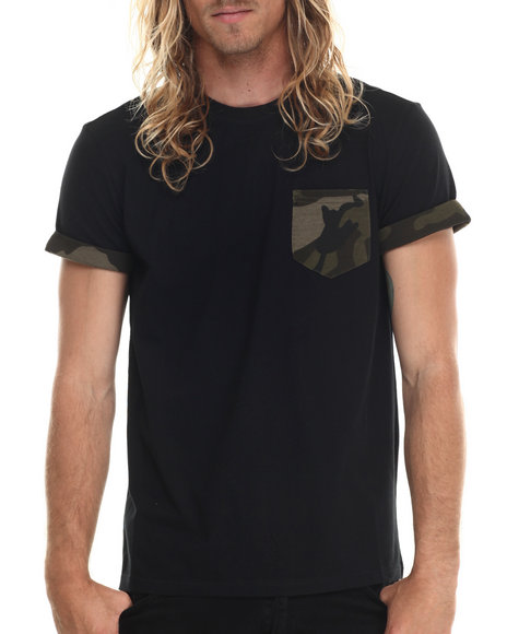 Allston Outfitter - Men Black Camo T-Shirt - $40.00