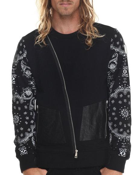 Ur-ID 213387 Allston Outfitter - Men Black Paisley Print Sweatshirt