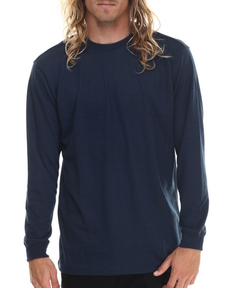 Basic Essentials - Men Navy Basic Heavy L/S Thermal