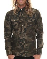 Shirts - Camo Print L/S Button-Down