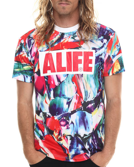 Alife - Men Multi Swirl S/S Tee - $48.00