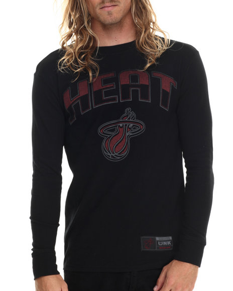 Ur-ID 213433 NBA, MLB, NFL Gear - Men Black Miami Heat Core Thermal