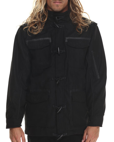 Basic Essentials - Men Black Supremacy Toggle Wool Coat