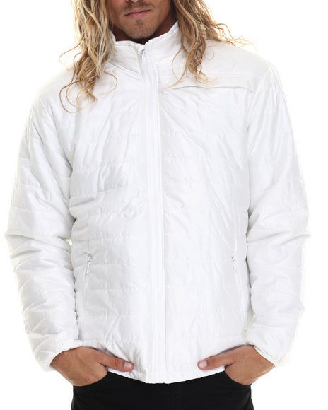 Ur-ID 213380 Basic Essentials - Men White Nylon Siret Jacket