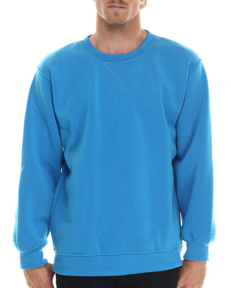 Basic Essentials - Men Teal Basic Fleece Crewneck Sweatshirt