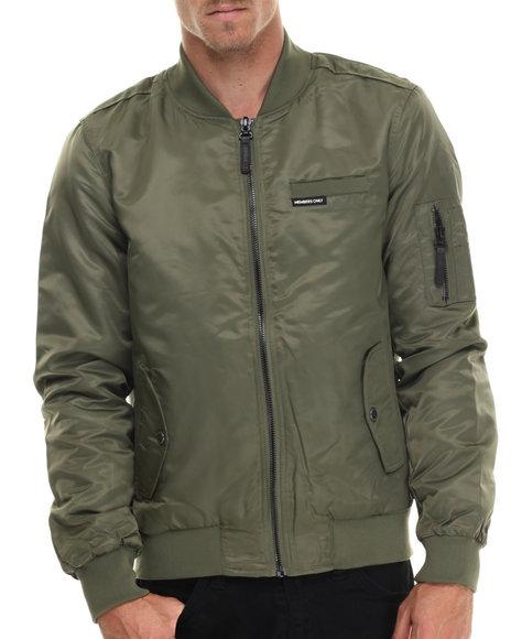 Members Only - Men Olive Heavy Nylon Aviator Jacket