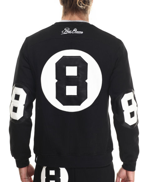 Post Game - Men Black Post Game 8 - Ball Crewneck Sweatshirt
