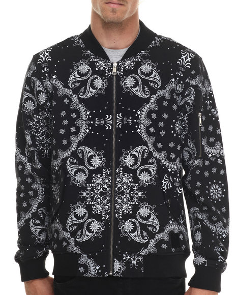Allston Outfitter - Men Black Paisley Print Jacket - $132.00