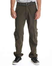 Basic Essentials - Belted Military - Style Cargo Pants
