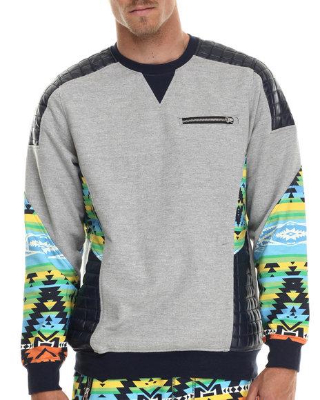 Ur-ID 213395 Allston Outfitter - Men Grey Gradient Navajo Sweatshirt