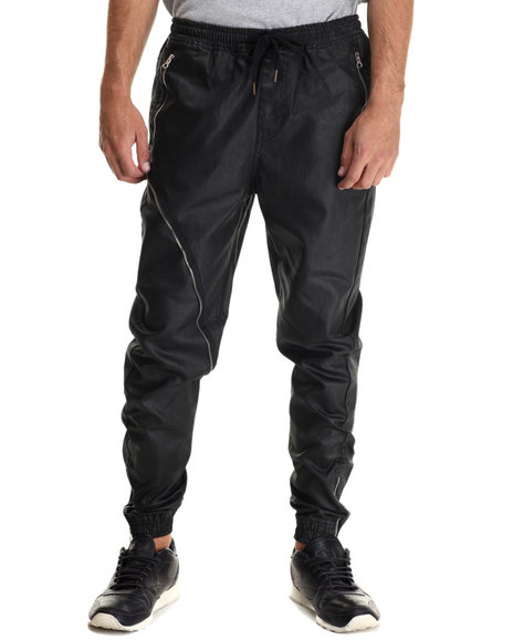 Allston Outfitter - Men Black Waxed Coated Jogger Pants - $122.00