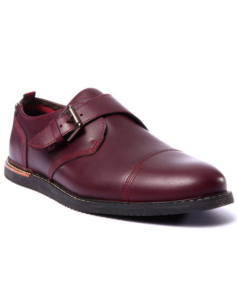 Timberland - Men Maroon Earthkeepers Brookpark Monk Strap Shoes