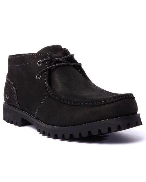 Ur-ID 213445 Timberland - Men Black Oakwell Moc Toe Chukka Boots