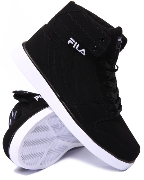 Fila - Men Black,White G300 Figueroa Hightop Sneaker