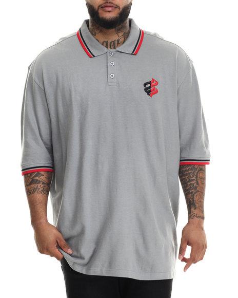 Rocawear - Men Grey Hooligan S/S Polo (B&T)