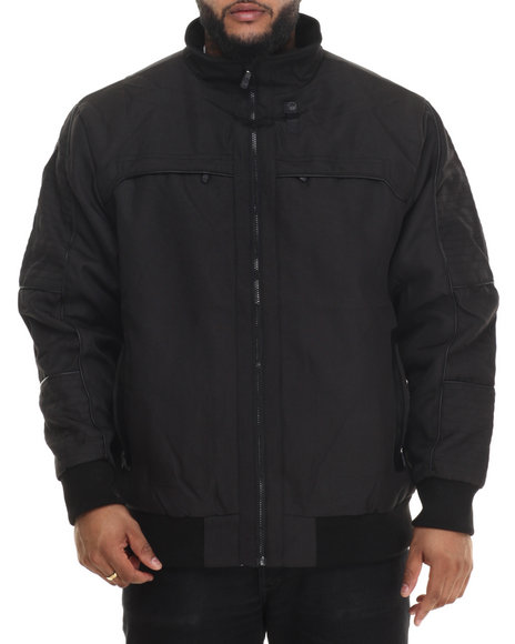 Basic Essentials - Men Black Moto X Ballistic Multi - Pocket Nylon Jacket (B&T) - $34.99