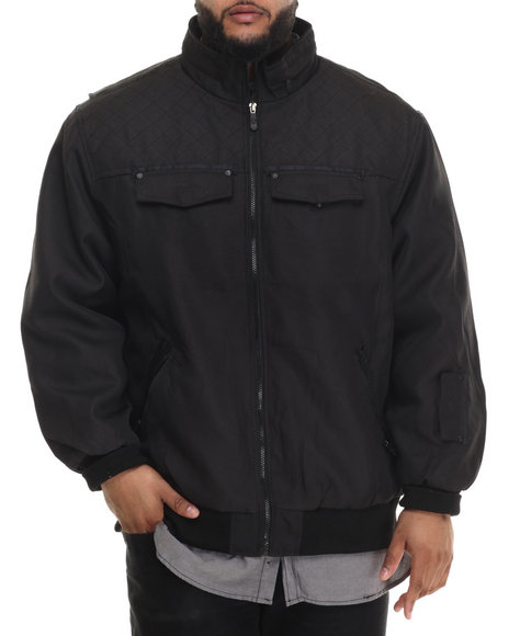 Basic Essentials - Men Black Moto X Ballistic Nylon Jacket