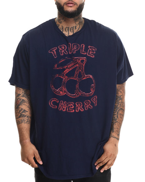 Jacks & Jokers - Men Navy Triple Cherry Vintage S/S Tee