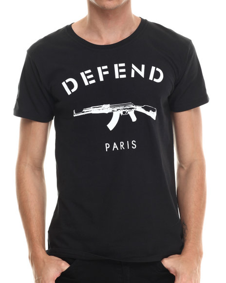 Ur-ID 215033 Defend Paris - Men Black Defend Paris Signature S/S Tee