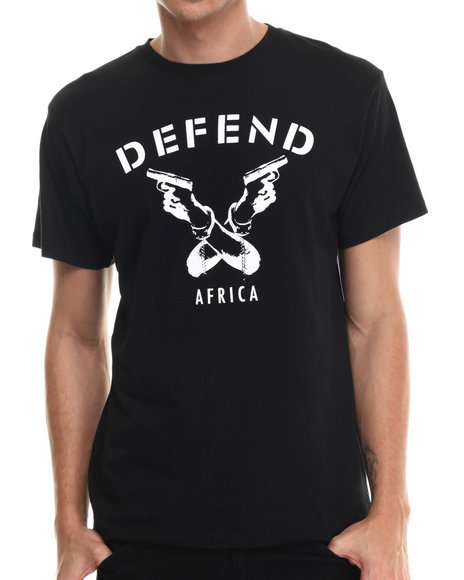 Defend Paris - Men Black Defend Africa S/S Tee