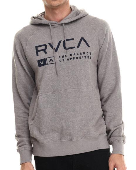 Ur-ID 213483 RVCA - Men Grey Associate Fleece Pullover Hoodie
