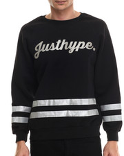Men - Justhype 3M - Striped Crewneck Sweatshirt