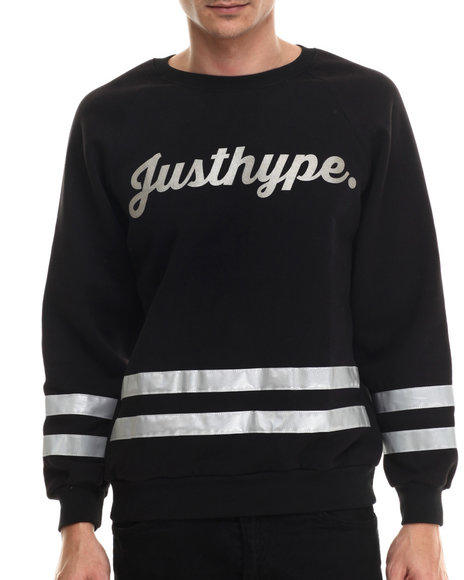 Justhype Black Pullover Sweatshirts