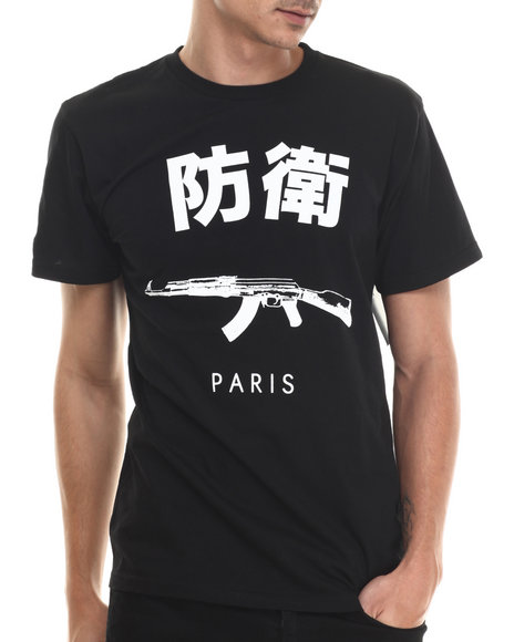 Ur-ID 215034 Defend Paris - Men Black Defend Paris Signature Japanese S/S Tee