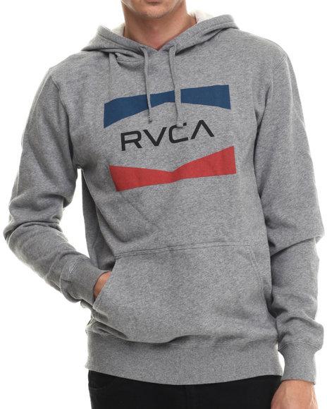 Rvca - Men Grey Rvca Nation Fleece Pullover Hoodie