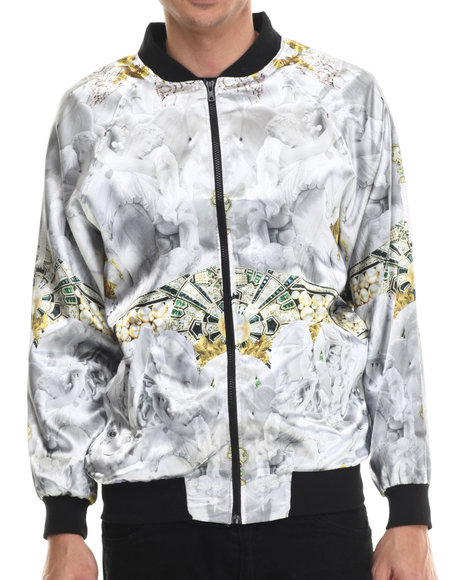 Justhype - Men Silver Empire Bomber Jacket
