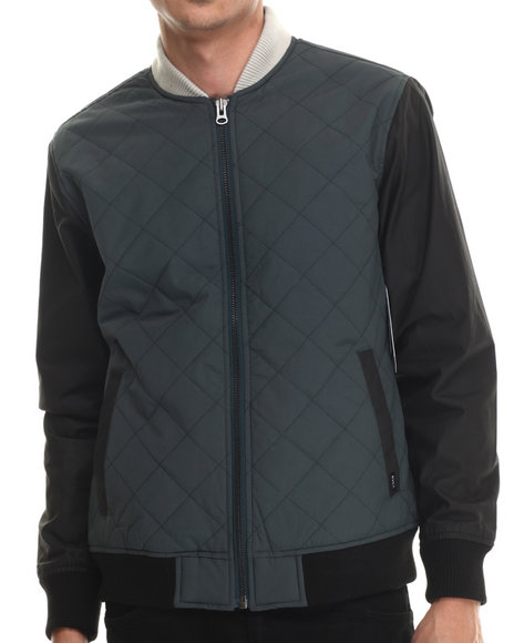 Rvca - Men Green Killing Moon Diamond Quilted Jacket - $67.99