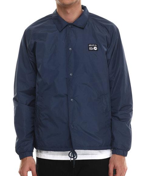 Rvca - Men Navy Anp Coaches Jacket