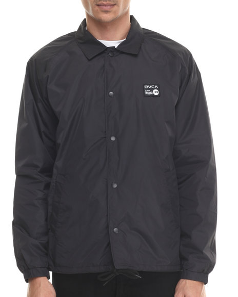 Rvca - Men Black Anp Coaches Jacket