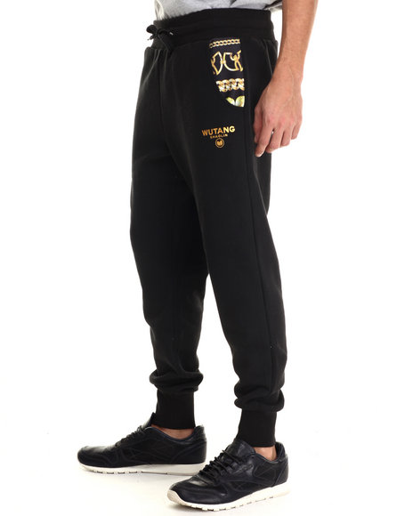 Ur-ID 213518 Wu-Tang Limited - Men Black Wu Chainz Jogger