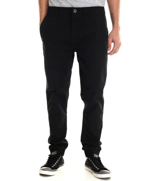 Rvca - Men Black House Arrest Twill Jogger Pants