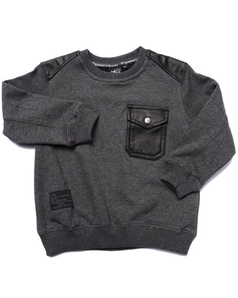 Lrg - Boys Grey Surplus Crew Neck Sweatshirt (2T-4T)