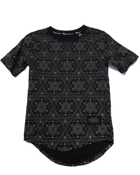 Lrg - Boys Black L-Transit Reflective Elongated Tee (4-7)