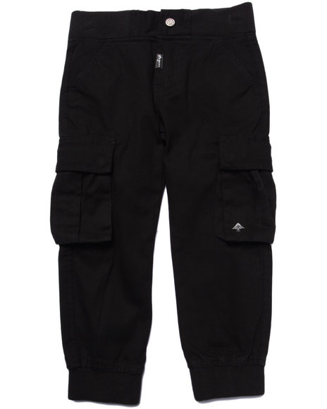 Lrg - Boys Black Lifted Recon Cargo Joggers (4-7)