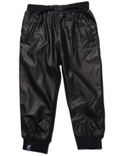 Boys - HONORARY PU/FLEECE JOGGERS (2T-4T)