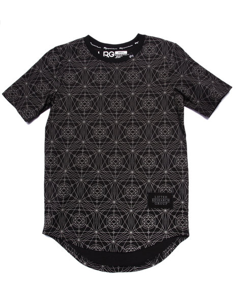 Lrg - Boys Black L-Transit Reflective Elongated Tee (8-20)