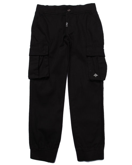Lrg - Boys Black Lifted Recon Cargo Joggers (8-20)